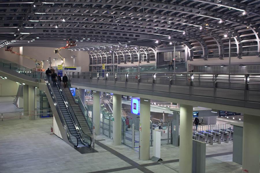stazione ferroviaria torino led