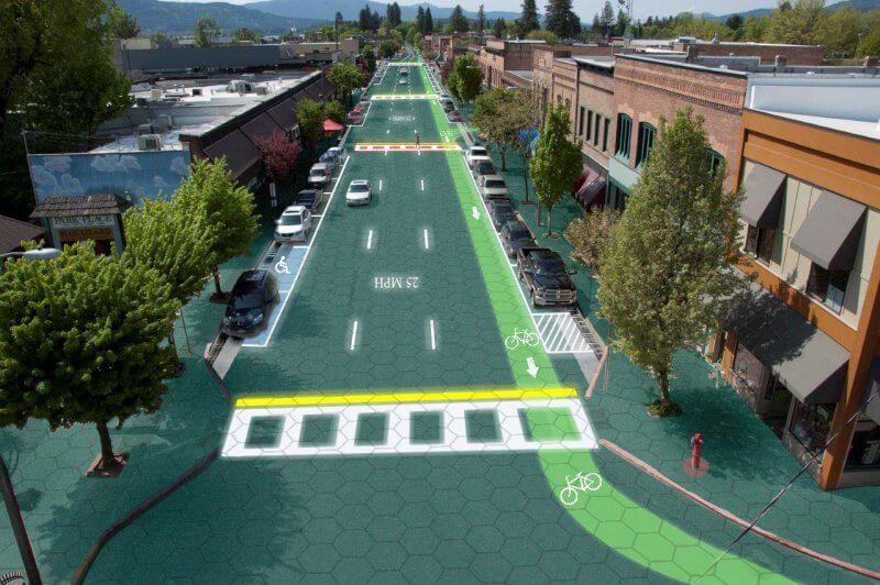 pannelli fotovoltaici in strada