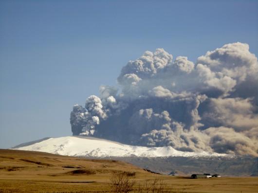 Eyjafjallajokull vulcano islanda