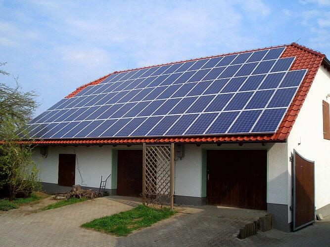 pannelli solari in abitazione