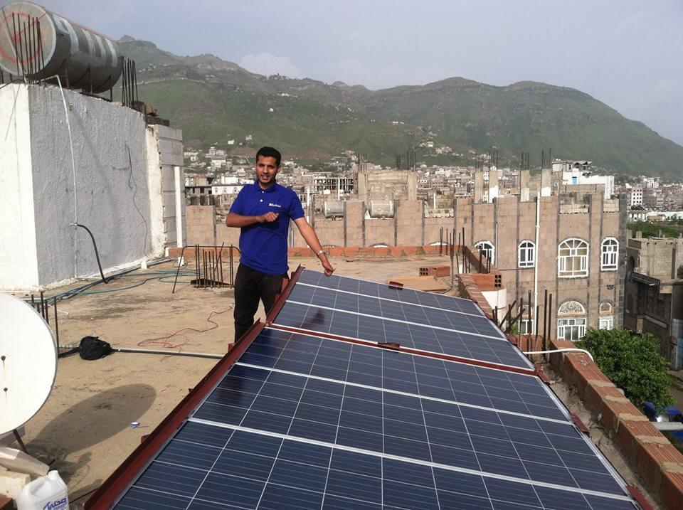 pannelli solari in yemen