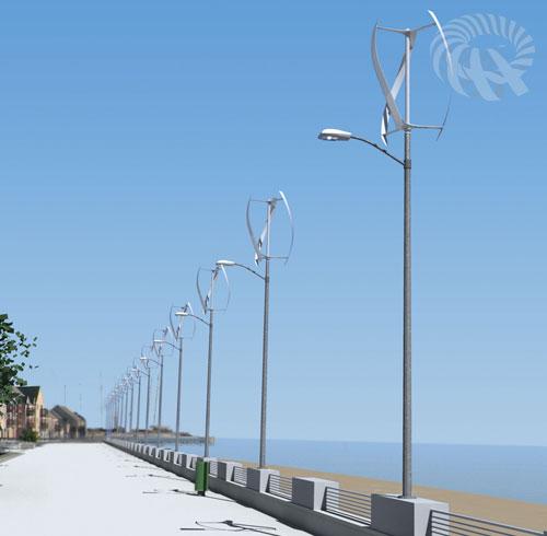 impianto micro-eolico verticale