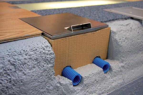 scatola per torretta a pavimento