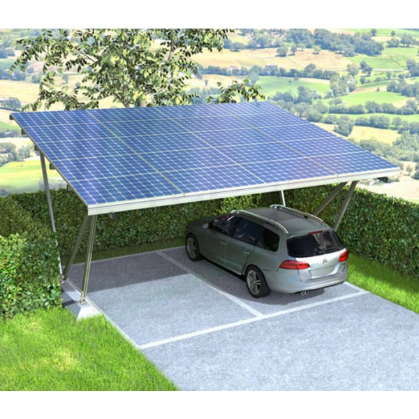tettoia auto fotovoltaica