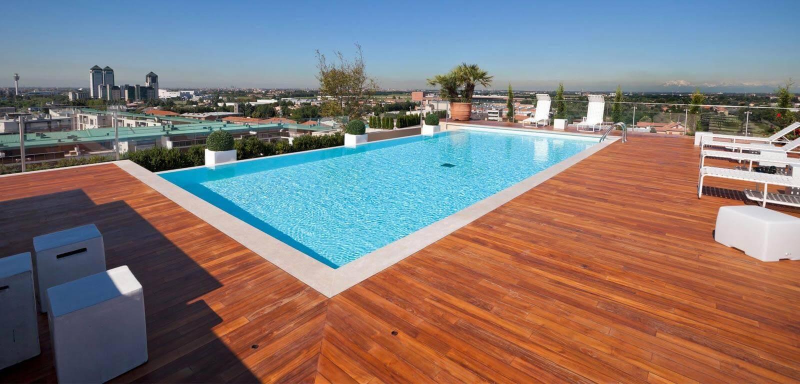 È possibile mettere una piscina sul terrazzo?