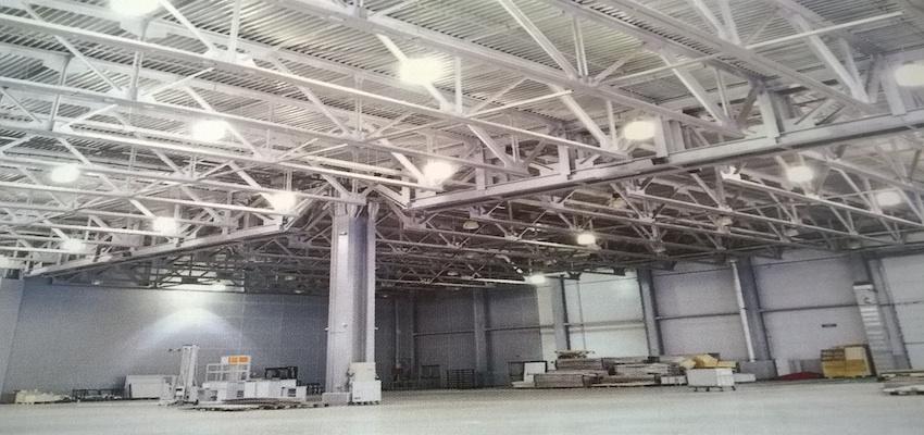 illuminazione capannoni industriali