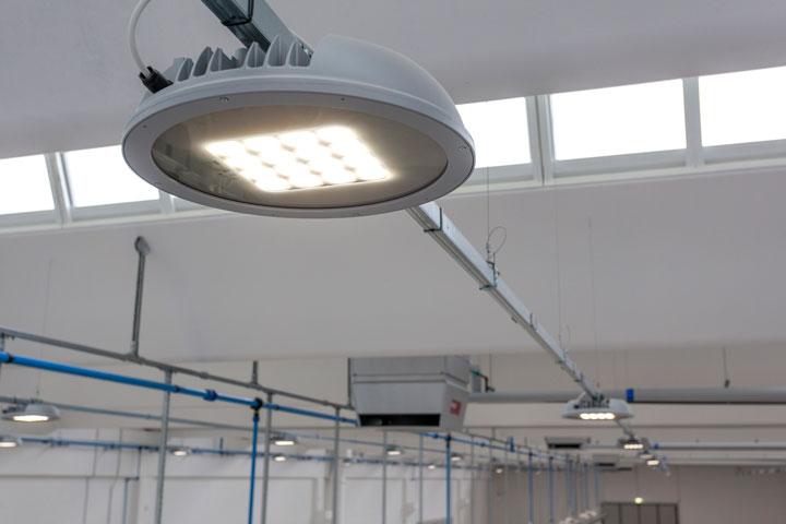 illuminazione led campane industriali