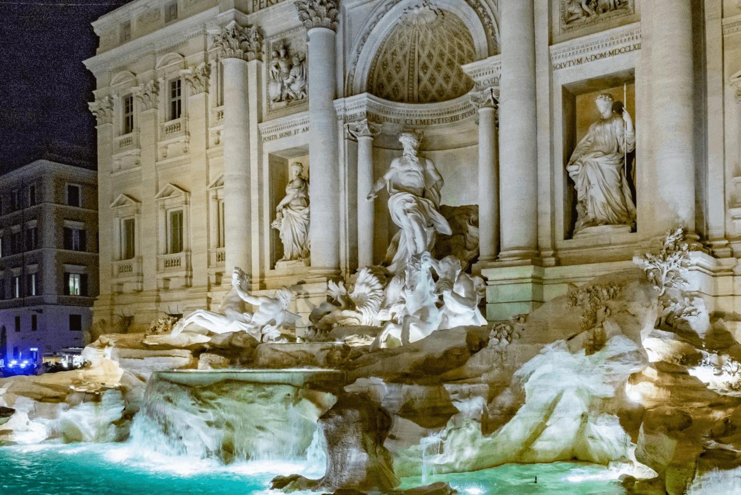 Ecco come è stata illuminata a LED la Fontana di Trevi